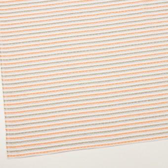 コットン×ボーダー(オレンジ)×ジャガード_全3色 サムネイル2