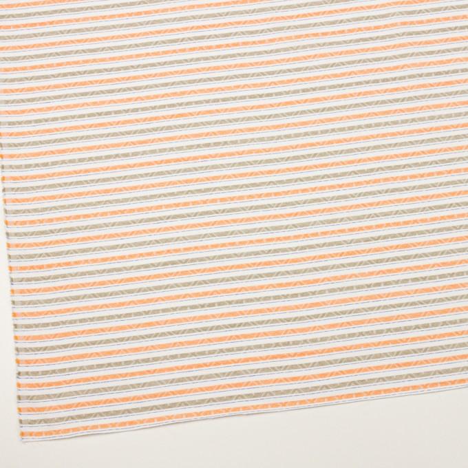 コットン×ボーダー(オレンジ)×ジャガード_全3色 イメージ2
