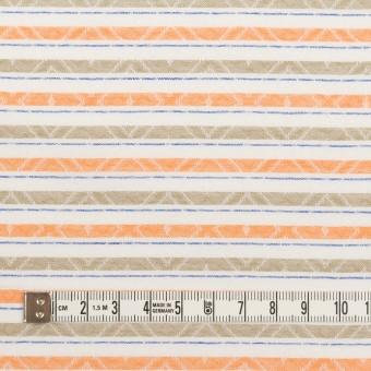 コットン×ボーダー(オレンジ)×ジャガード_全3色 サムネイル4