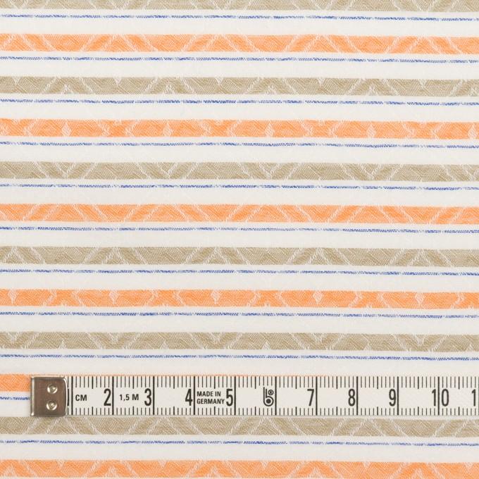 コットン×ボーダー(オレンジ)×ジャガード_全3色 イメージ4