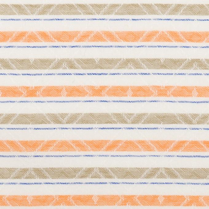コットン×ボーダー(オレンジ)×ジャガード_全3色 イメージ1