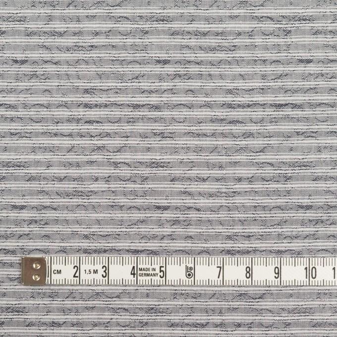 コットン×ボーダー(グレー)×ジャガード イメージ4