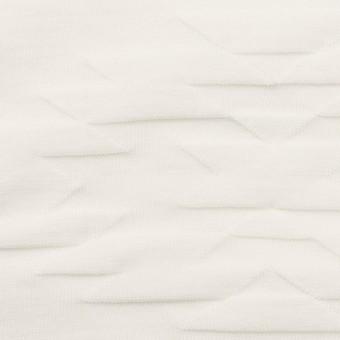 コットン×幾何学模様(オフホワイト)×ジャガードニット