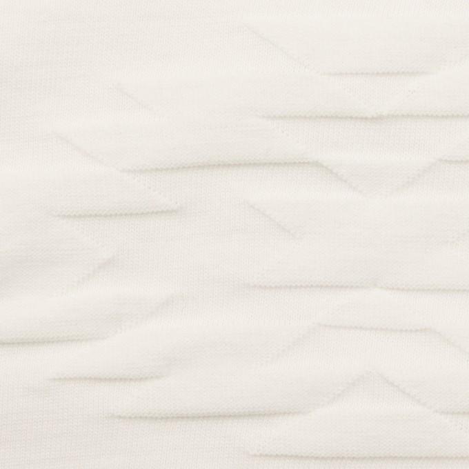 コットン×幾何学模様(オフホワイト)×ジャガードニット イメージ1