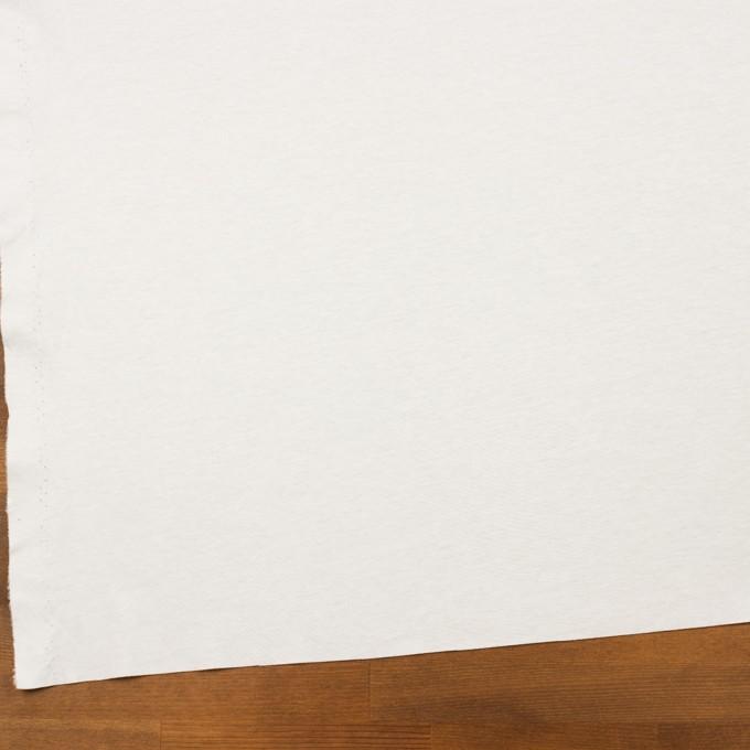 コットン×無地(ホワイト)×スムースニット イメージ2