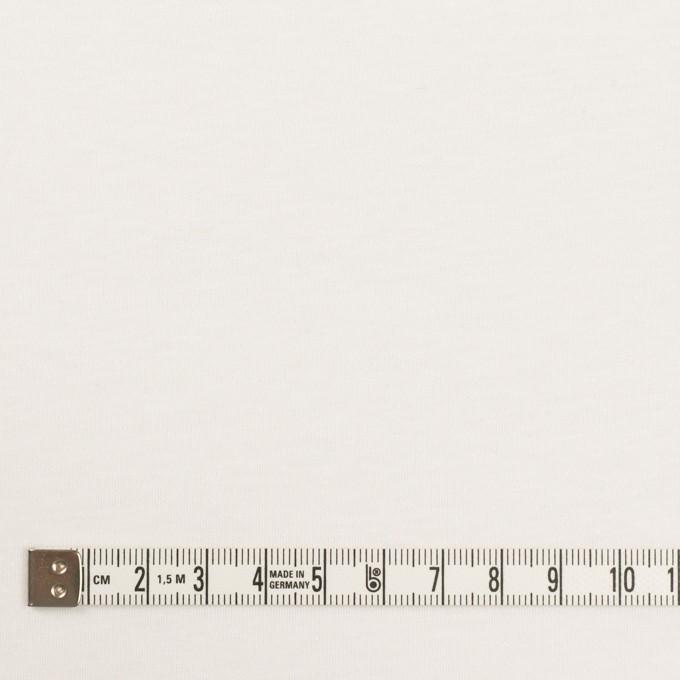コットン×無地(ホワイト)×スムースニット イメージ4