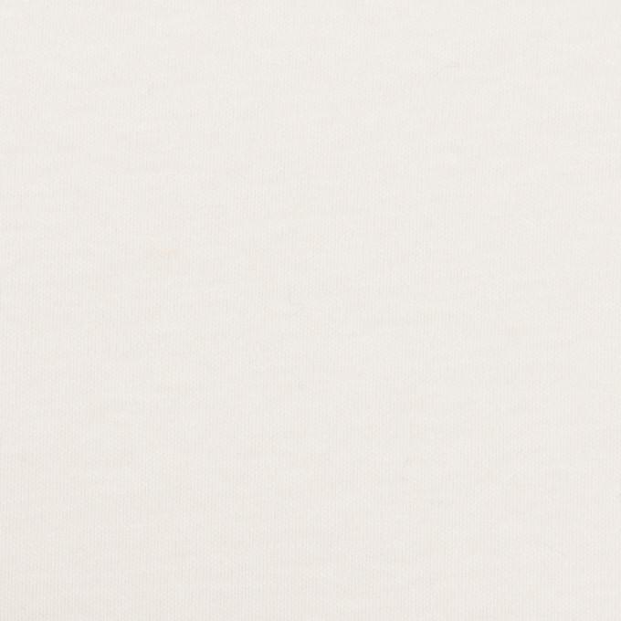 コットン×無地(ホワイト)×スムースニット イメージ1
