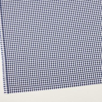 コットン×チェック(マリンブルー)×斜子織 サムネイル2