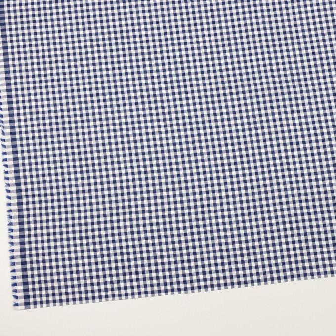 コットン×チェック(マリンブルー)×斜子織 イメージ2