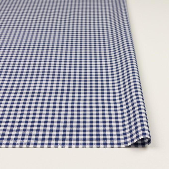 コットン×チェック(マリンブルー)×斜子織 イメージ3