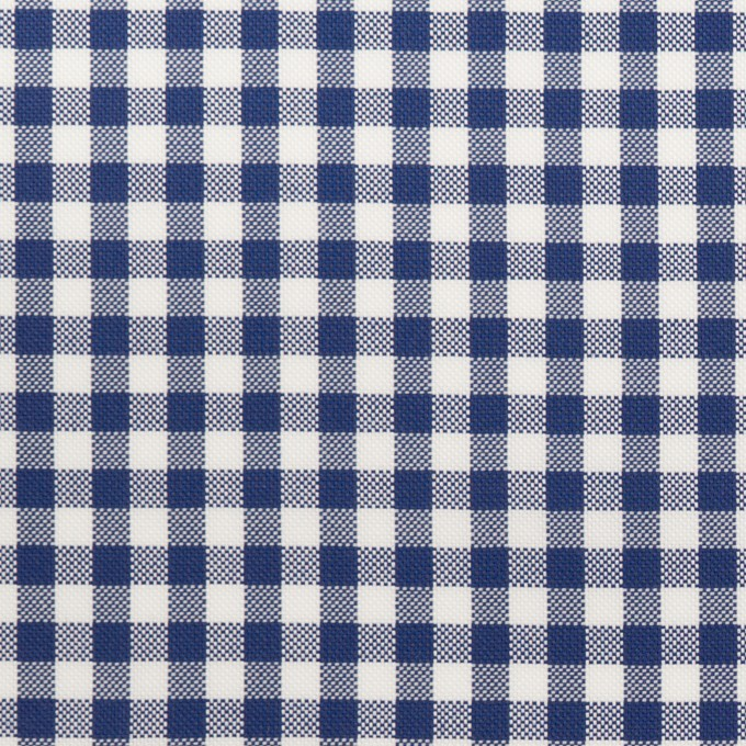 コットン×チェック(マリンブルー)×斜子織 イメージ1