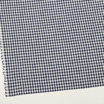 リネン×チェック(ネイビー)×薄キャンバス サムネイル2
