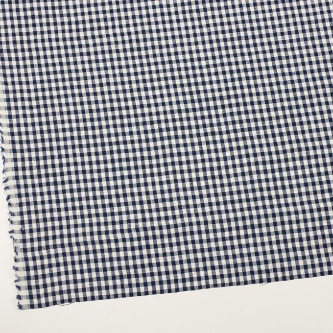 リネン×チェック(ネイビー)×薄キャンバス イメージ2
