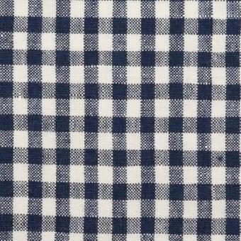 リネン×チェック(ネイビー)×薄キャンバス サムネイル1