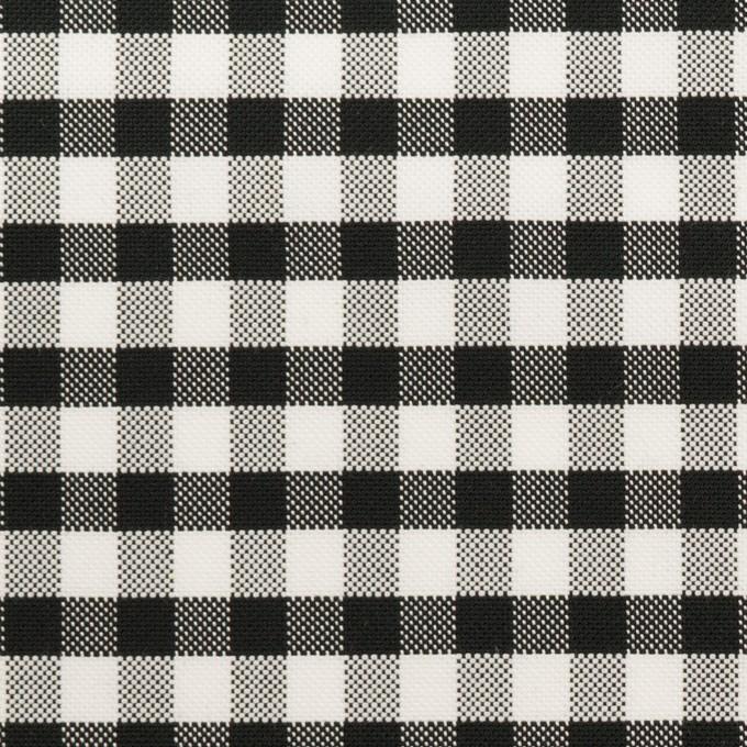 コットン×チェック(ブラック)×オックスフォード イメージ1