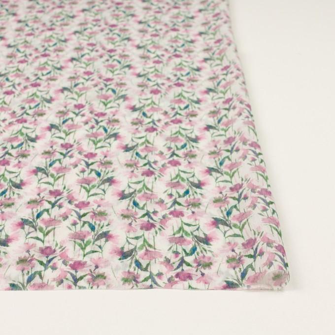 シルク×フラワー(ピンク)×クレープジョーゼット_全2色 イメージ3
