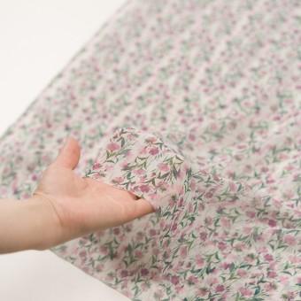 シルク×フラワー(ピンク)×クレープジョーゼット_全2色 サムネイル5