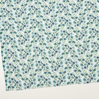 シルク×フラワー(ブルー)×クレープジョーゼット_全2色 サムネイル2
