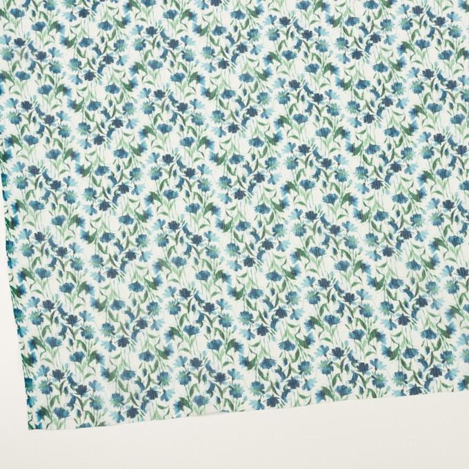 シルク×フラワー(ブルー)×クレープジョーゼット_全2色 イメージ2