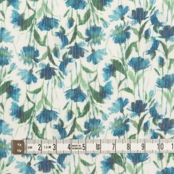 シルク×フラワー(ブルー)×クレープジョーゼット_全2色 サムネイル4