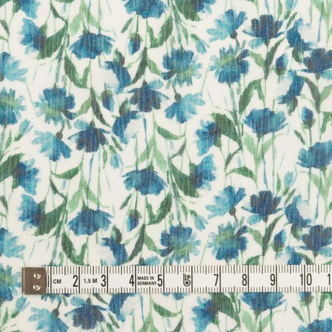 シルク×フラワー(ブルー)×クレープジョーゼット_全2色 イメージ4