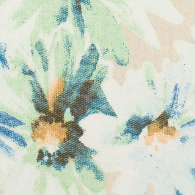 コットン×フラワー(ライトベージュ)×ボイル_全3色 イメージ1
