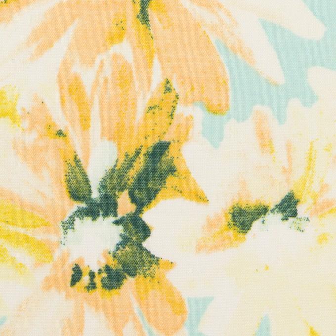 コットン×フラワー(エメラルド)×ボイル_全3色 イメージ1