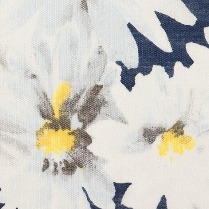 コットン×フラワー(ネイビー)×ボイル_全3色 イメージ1