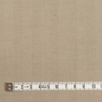コットン&ポリエステル混×無地(カーキベージュ)×ヘリンボーン・ストレッチ_全3色 サムネイル4