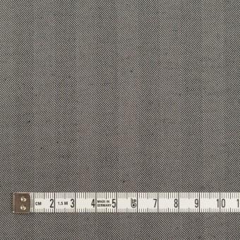 コットン&ポリエステル混×無地(チャコールグレー)×ヘリンボーン・ストレッチ_全3色 サムネイル4