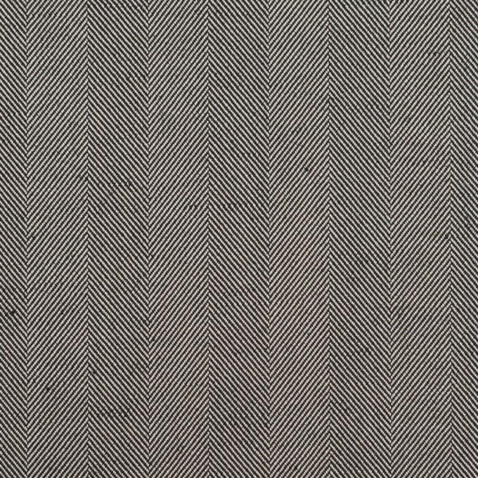 コットン&ポリエステル混×無地(チャコールグレー)×ヘリンボーン・ストレッチ_全3色 イメージ1