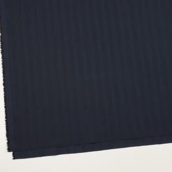 コットン&ポリエステル混×無地(ネイビー)×ヘリンボーン・ストレッチ_全3色 サムネイル2