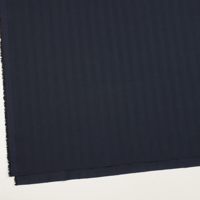 コットン&ポリエステル混×無地(ネイビー)×ヘリンボーン・ストレッチ_全3色 イメージ2