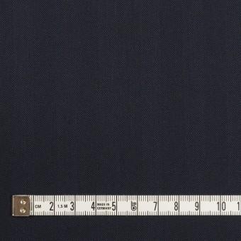 コットン&ポリエステル混×無地(ネイビー)×ヘリンボーン・ストレッチ_全3色 サムネイル4