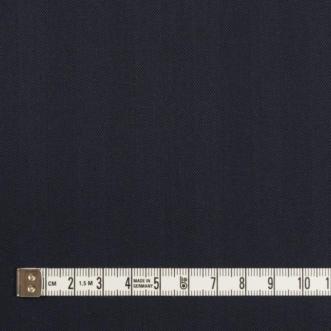 コットン&ポリエステル混×無地(ネイビー)×ヘリンボーン・ストレッチ_全3色 イメージ4