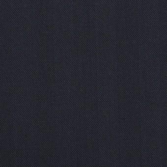 コットン&ポリエステル混×無地(ネイビー)×ヘリンボーン・ストレッチ_全3色 サムネイル1