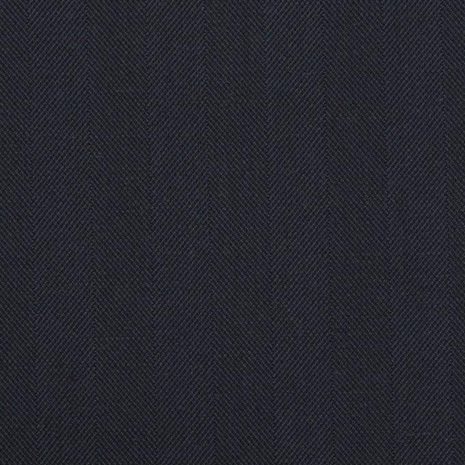 コットン&ポリエステル混×無地(ネイビー)×ヘリンボーン・ストレッチ_全3色 イメージ1