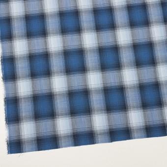 コットン×チェック(ブルー&ネイビー)×ローン サムネイル2