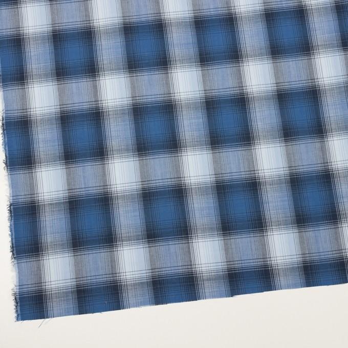 コットン×チェック(ブルー&ネイビー)×ローン イメージ2