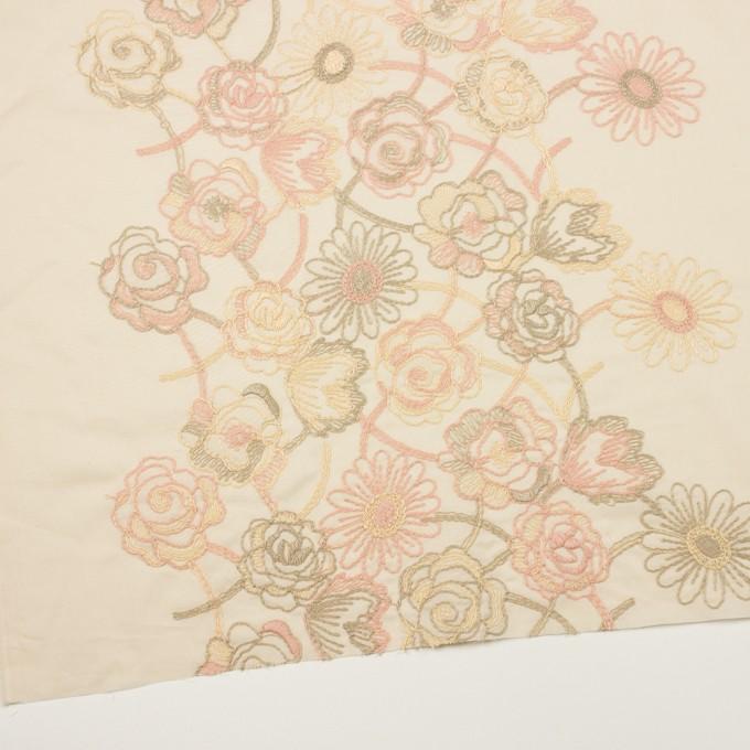 コットン×フラワー(エクリュ)×ローン刺繍 イメージ2