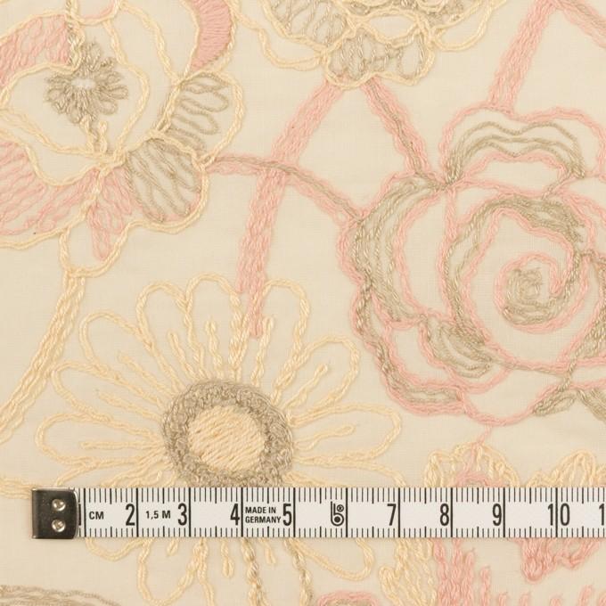 コットン×フラワー(エクリュ)×ローン刺繍 イメージ4