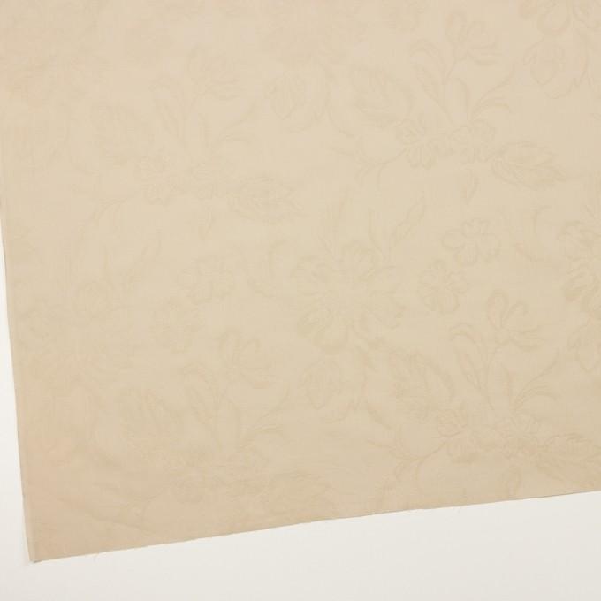 コットン×フラワー(ライトベージュ)×ローンジャガード イメージ2