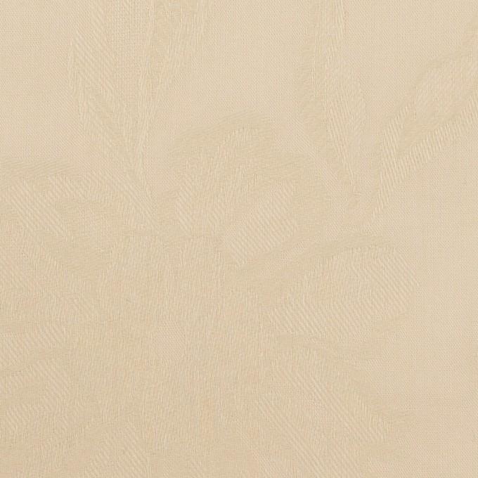 コットン×フラワー(ライトベージュ)×ローンジャガード イメージ1