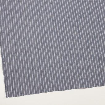 コットン&キュプラ混×ストライプ(アッシュネイビー)×ボイルシャーリング_全2色 サムネイル2