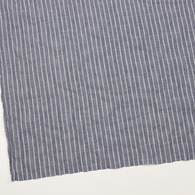 コットン&キュプラ混×ストライプ(アッシュネイビー)×ボイルシャーリング_全2色 イメージ2