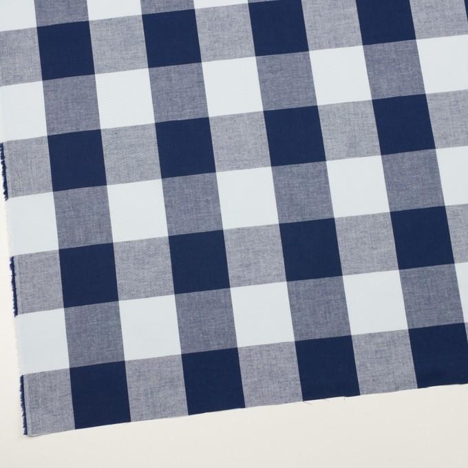 コットン×チェック(ペールブルー&ネイビー)×ブロード_全2色 イメージ2