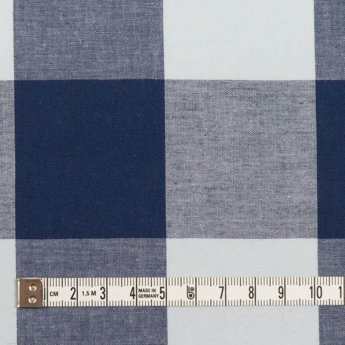コットン×チェック(ペールブルー&ネイビー)×ブロード_全2色 イメージ4