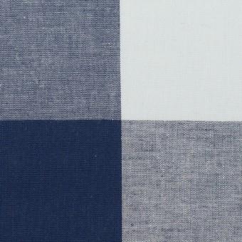 コットン×チェック(ペールブルー&ネイビー)×ブロード_全2色 サムネイル1
