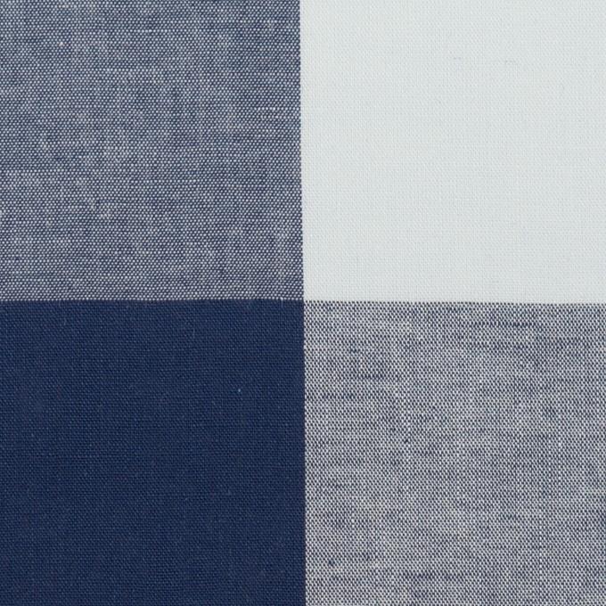 コットン×チェック(ペールブルー&ネイビー)×ブロード_全2色 イメージ1