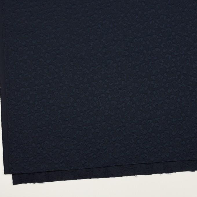 ポリエステル×フラワー(ネイビー)×フクレジャガード_全2色 イメージ2
